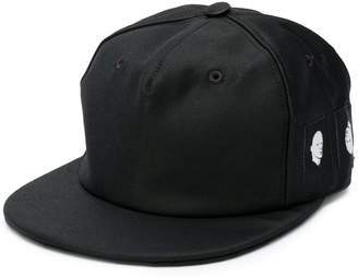 Rick Owens face patch snapback cap