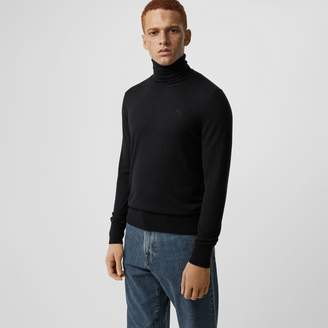 be551acb7 Mens Black Roll Neck Sweater - ShopStyle UK