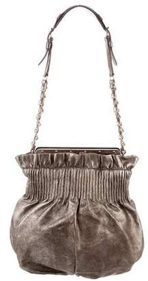 Reed Krakoff Metallic Ruched Shoulder Bag
