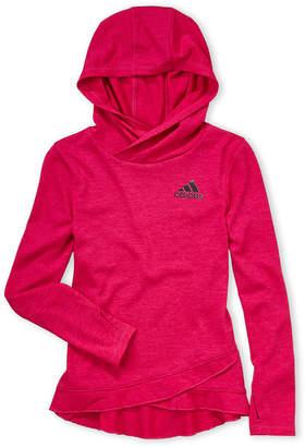 adidas Girls 4-6x) Ruffle Trim Hooded Tee