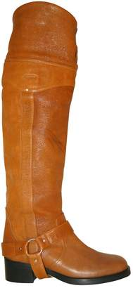 Donna Karan Camel Leather Boots