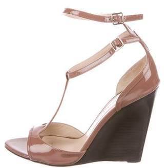 Burberry T-Strap Wedge Sandals