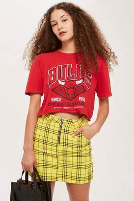 Topshop Red Bulls Cropped T-Shirt by UNK X