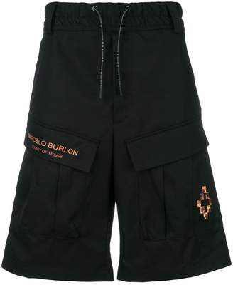 Marcelo Burlon County of Milan fire cross cargo shorts