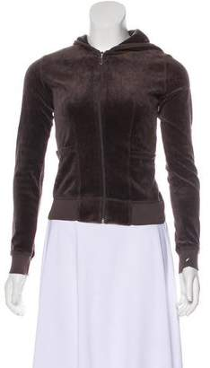 Juicy Couture Hooded Zip-Up Sweater