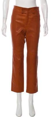 Isabel Marant Leather High-Rise Pants w/ Tags