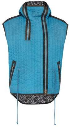 Calvin Klein Hooded Quilted Gilet - Mens - Blue