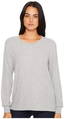 Michael Stars Super Soft Madison Rib Long Sleeve Scoop Neck Pullover Women's Clothing