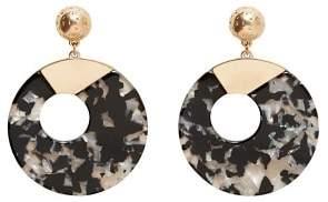 Violeta BY MANGO Tortoiseshell resin earrings