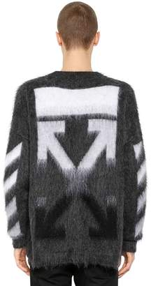 Off-White Oversized Arrows Mohair Blend Sweater