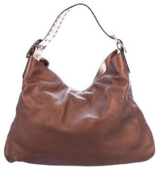 Be & D Metallic Leather Hobo
