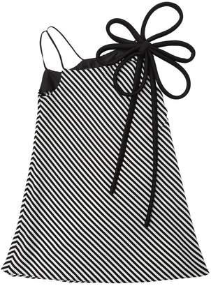 Striped Stretch Silk Dress