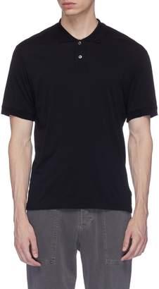 James Perse Cotton-cashmere polo shirt