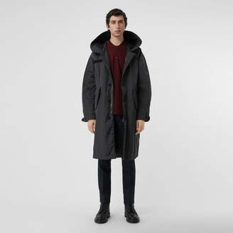Burberry Quilt-lined Technical Nylon Parka , Size: 44, Black