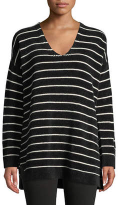 Eileen Fisher Chenille Striped Tunic Sweater