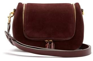 Anya Hindmarch Vere Small Suede Shoulder Bag - Womens - Burgundy