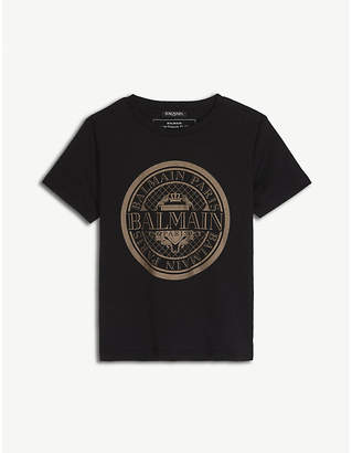 Balmain Logo cotton t-shirt 6-14 years