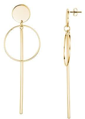 Argentovivo Disc, Circle and Bar Drop Earrings