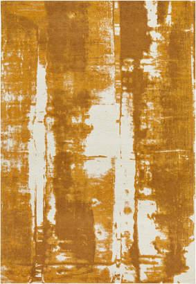 Matisse Network Yellow Jacquard Cotton Rug