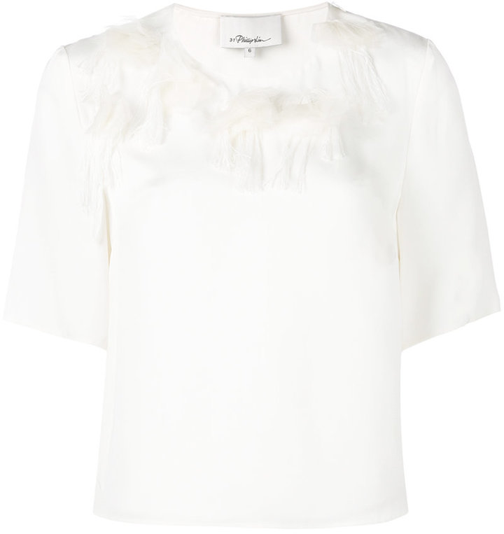 3.1 Phillip Lim 3.1 Phillip Lim peony embroidered T-shirt