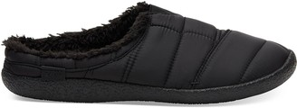 Black Quilted Men's Berkeley Slippers