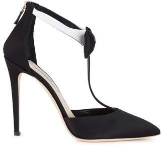 Olgana Paris La Garconne Black Satin Sandals
