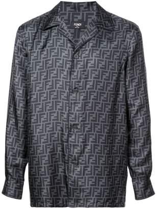 Fendi double F printed shirt