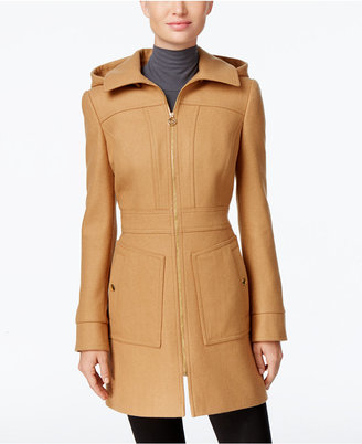 MICHAEL Michael Kors Hooded Wool-Blend Coat, Only at Macy's $275 thestylecure.com