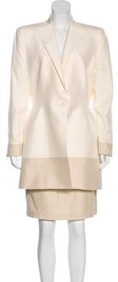 Thierry Mugler Silk Suit and Skirt Set