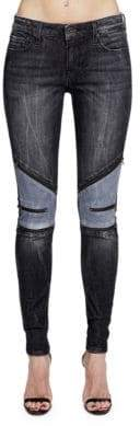 Cult of Individuality Moto Mid-Rise Zipped Jeans