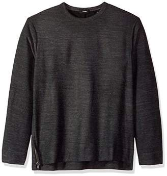Theory Men's Pull Over Sweatshirt with Side Zip Details