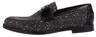 Jimmy Choo Distressed Leather Loafers