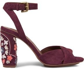 See by Chloe Embroidered Suede Sandals