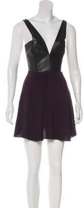 Mason Leather-Paneled Mini Dress