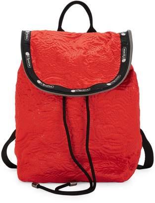 Le Sport Sac Colette Floral Embossed Backpack