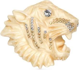 Gucci Resin tiger head brooch