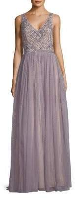 Adrianna Papell Embellished Sleeveless Evening Dress