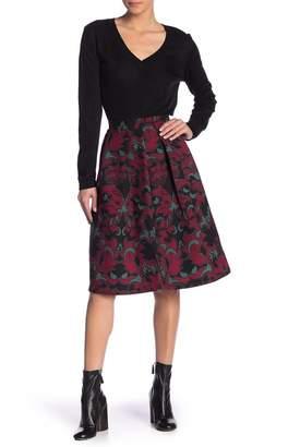 Scotch & Soda Patterned Knee Length A-Line Skirt