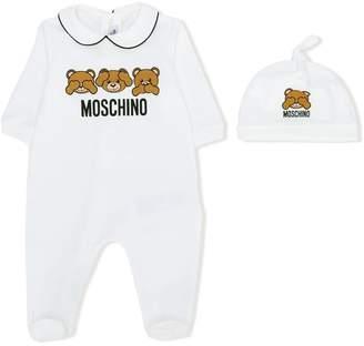 Moschino Kids teddy bear print pyjamas set