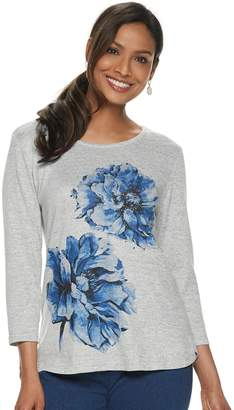 f6faf76e190a00 Women s Cathy Daniels Floral Graphic Sweater