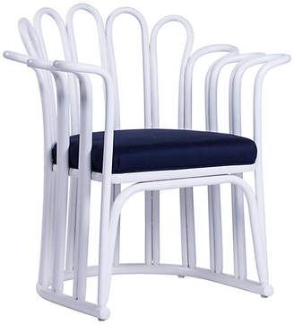 David Francis Furniture Calla Occasional Chair - White/Navy