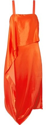 Temperley London Darling Draped Silk-blend Satin Midi Dress