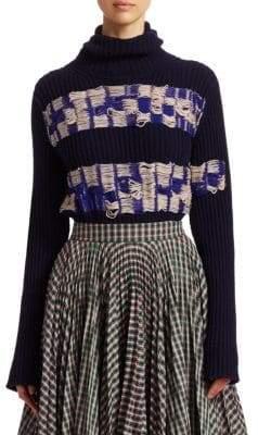 Calvin Klein Jacquard Wool Turtleneck Sweater