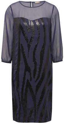 M&Co Sheer panel sequin tunic dress