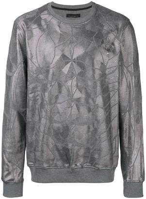 Frankie Morello metallic geometric sweatshirt