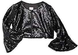 7387a8d1a91ed Zoe Zoe Girl s Sofi Sequin Bell Sleeve Top