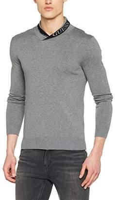 GUESS Men's Ls Shawl Collar Isaac Jumper,Large