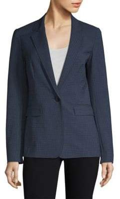 Lafayette 148 New York Women's Lyndon Stripe Blazer - Ink Multi - Size 4
