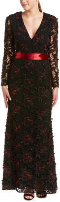 Sachin + Babi Noir Silk-Blend Gown