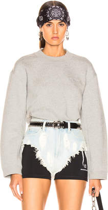 Alexander Wang (アレキサンダー ワン) - T By Alexander Wang T by Alexander Wang Cropped Sweater in Heather Grey | FWRD